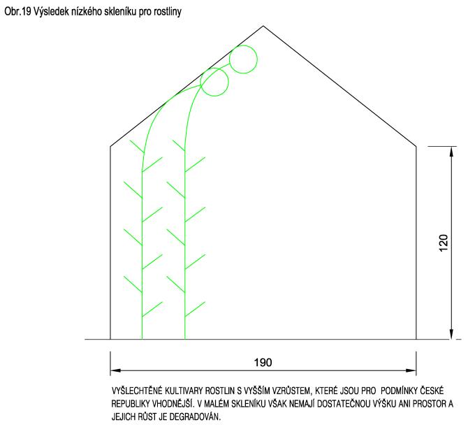 Výsledek nízkého skleníku pro rostliny